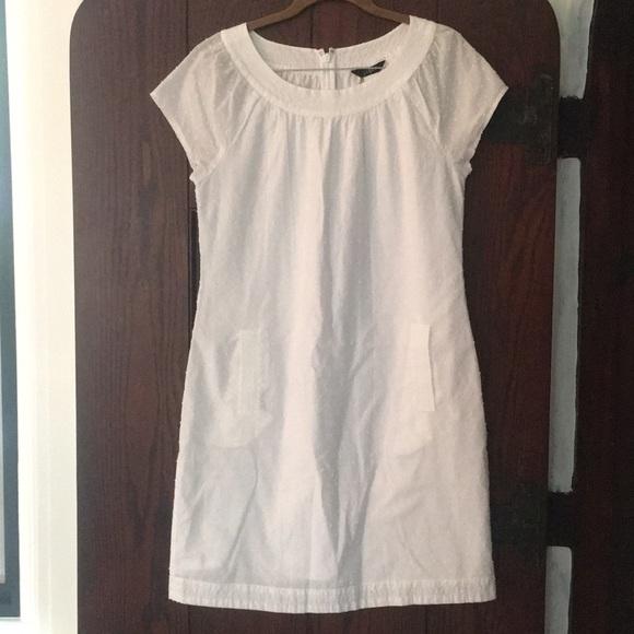 J. Crew Dresses & Skirts - Size 6 J.Crew White Swiss dot cotton mini dress